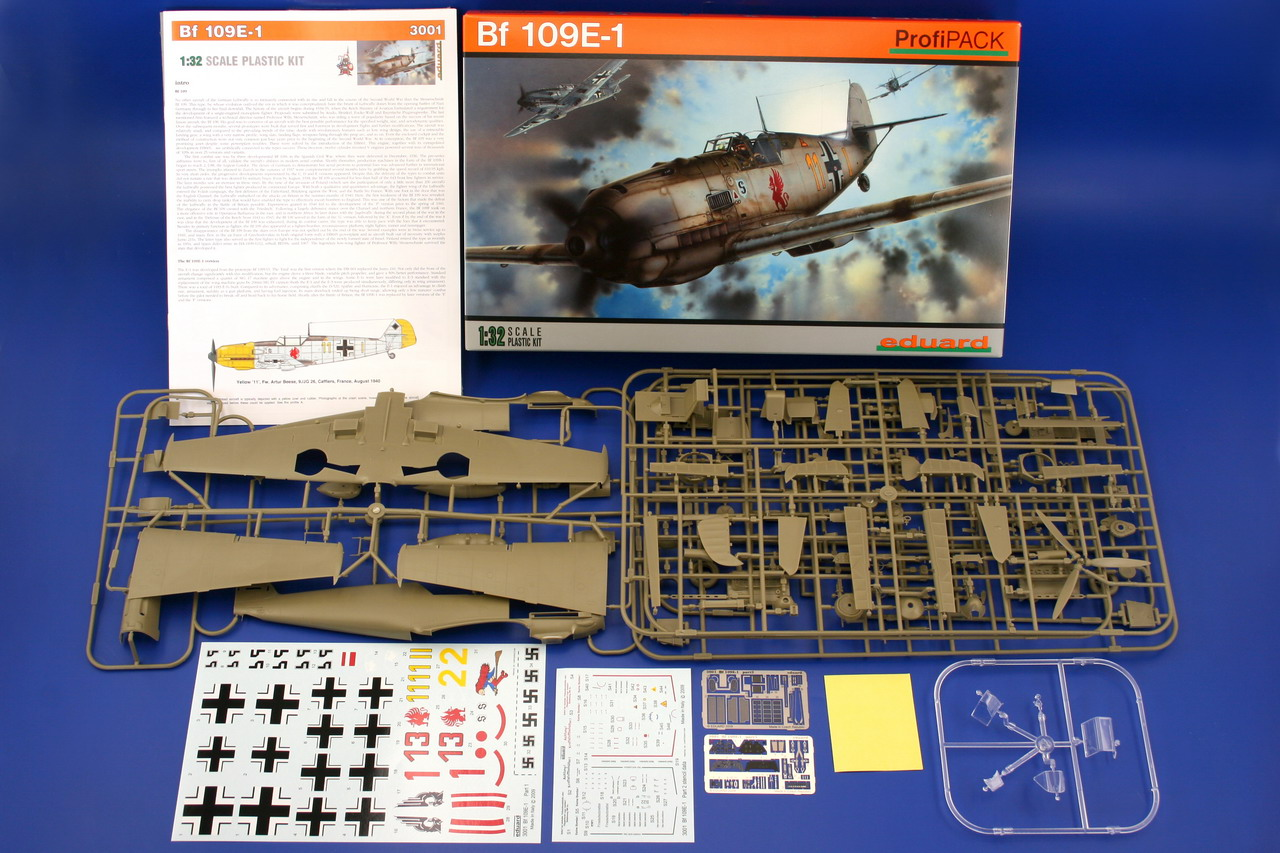 Eduard 1/32 scale plastic model kit Bf 109E-1